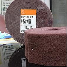 Нетканый абразивный материал 115мм х10м VERY FINE красный RoxelPro