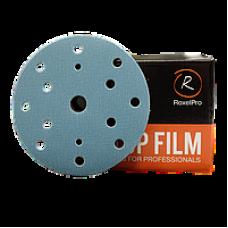 Шлифовальный круг ROXTOP FILM 150мм на липучке 15 отв синий P180