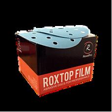 Шлифовальный круг ROXTOP FILM 150мм на липучке 15 отв синий P500