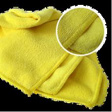 Многоразовая полировальная салфетка MICROSHINE из микрофибры 40х40см. жёлтая