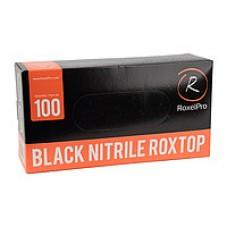 Нитриловые перчатки ROXTOP чёрные размер L упаковка 100 шт.