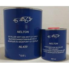 NL420 (0,9) 2К Акриловый наполнитель «мокрый по мокрому» 6:1, комплект: наполнитель 0.9 л + отвердитель 0.15 л