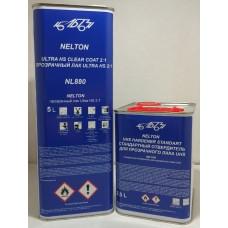 NL880 NELTON 2К UHS Прозрачный лак 2:1 (комплект лак 1 л + отвердитель 500 мл)