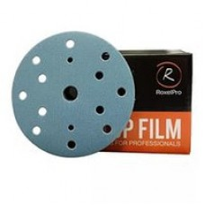 Шлифовальный круг ROXTOP FILM 150мм на липучке 15 отв синий P120